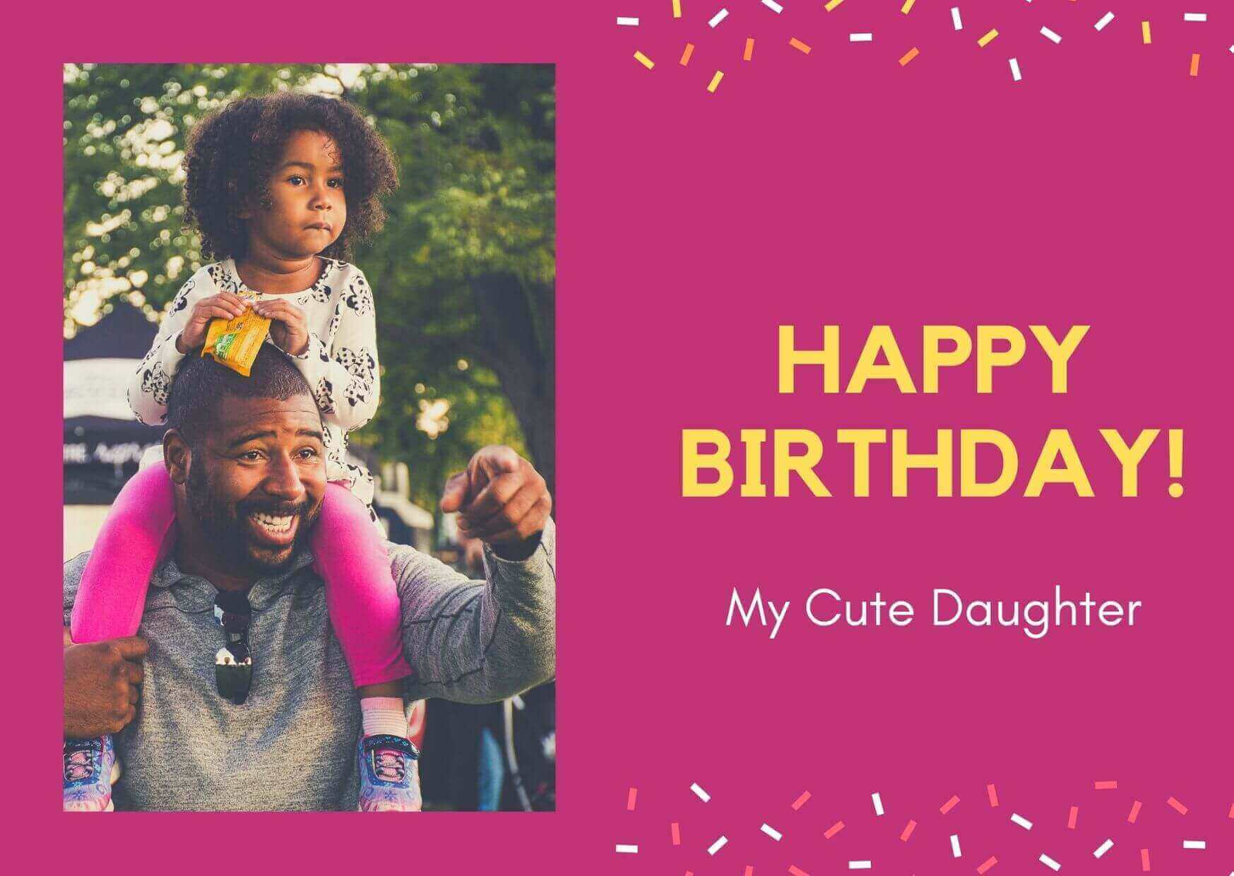 Birthday Wishes for Daughter Image