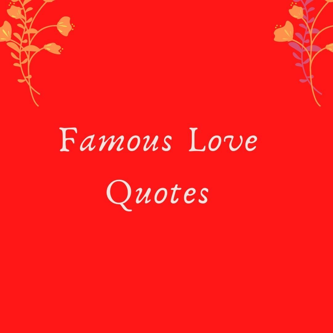 Famous Love quotes free Image