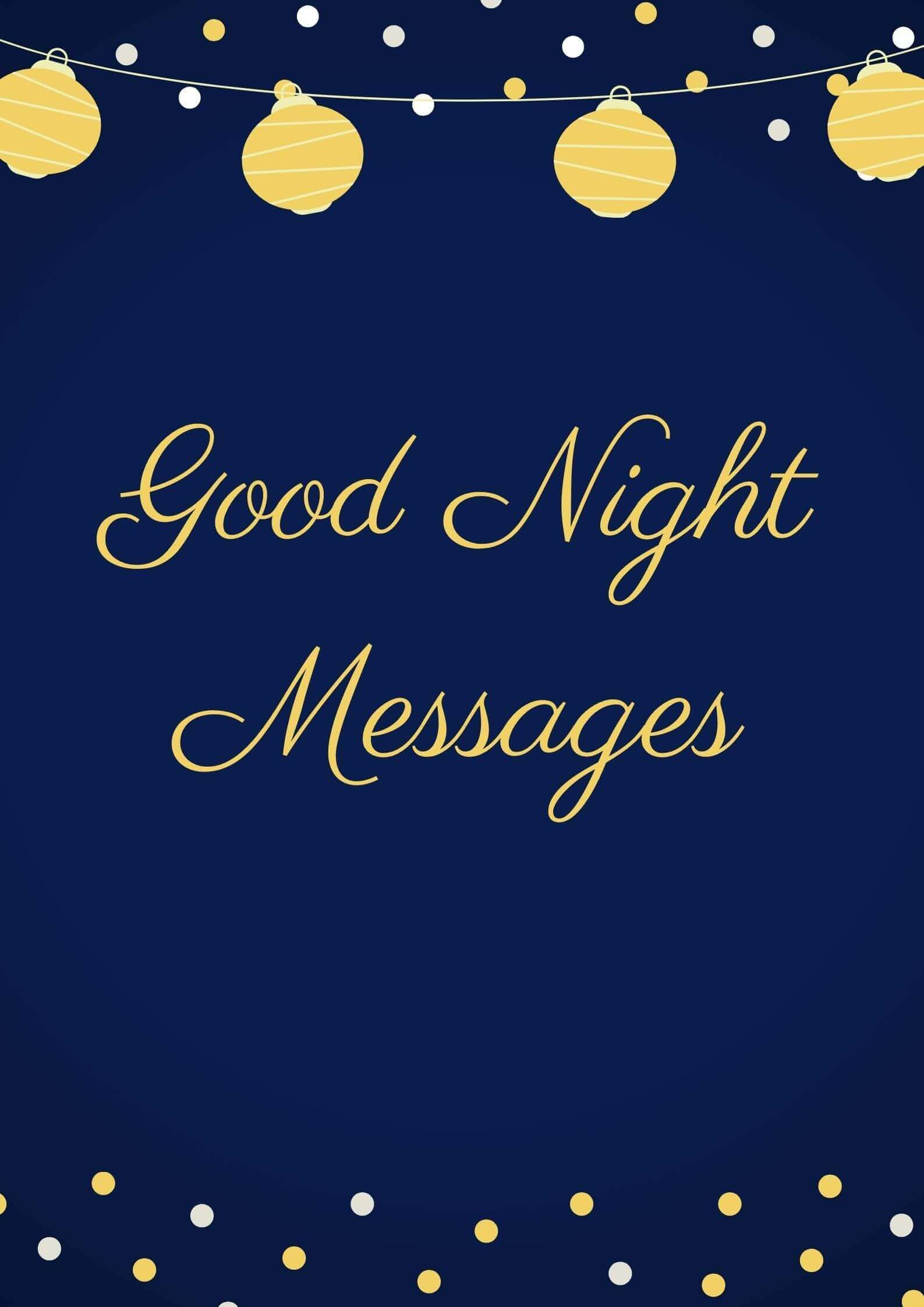 Good night Messages free image