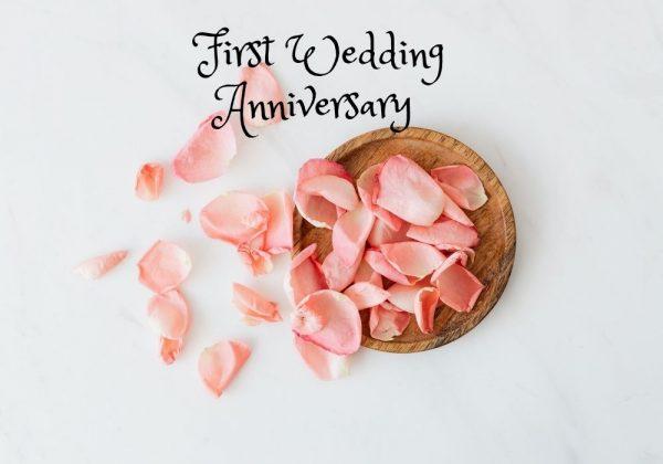 First Wedding Anniversary Wish Image