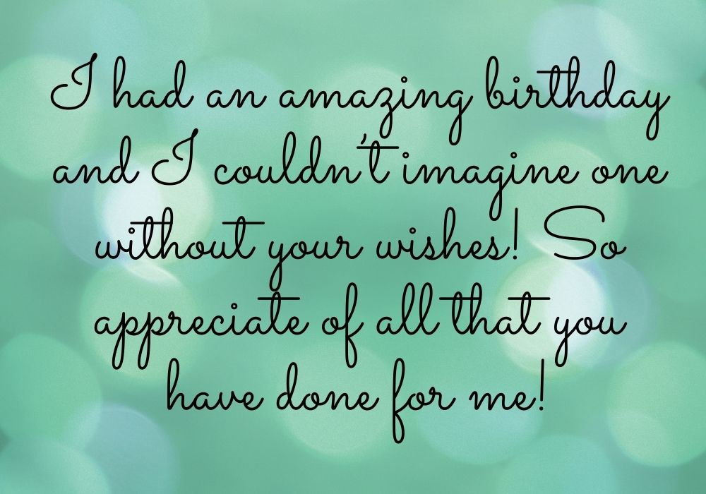 Thank You Message for Birthday Wish free download