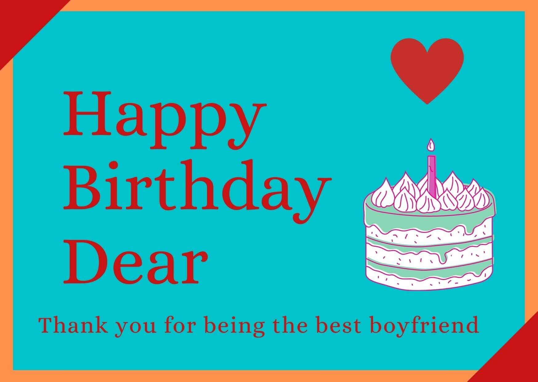 Birthday Wishes for Boyfriend free image