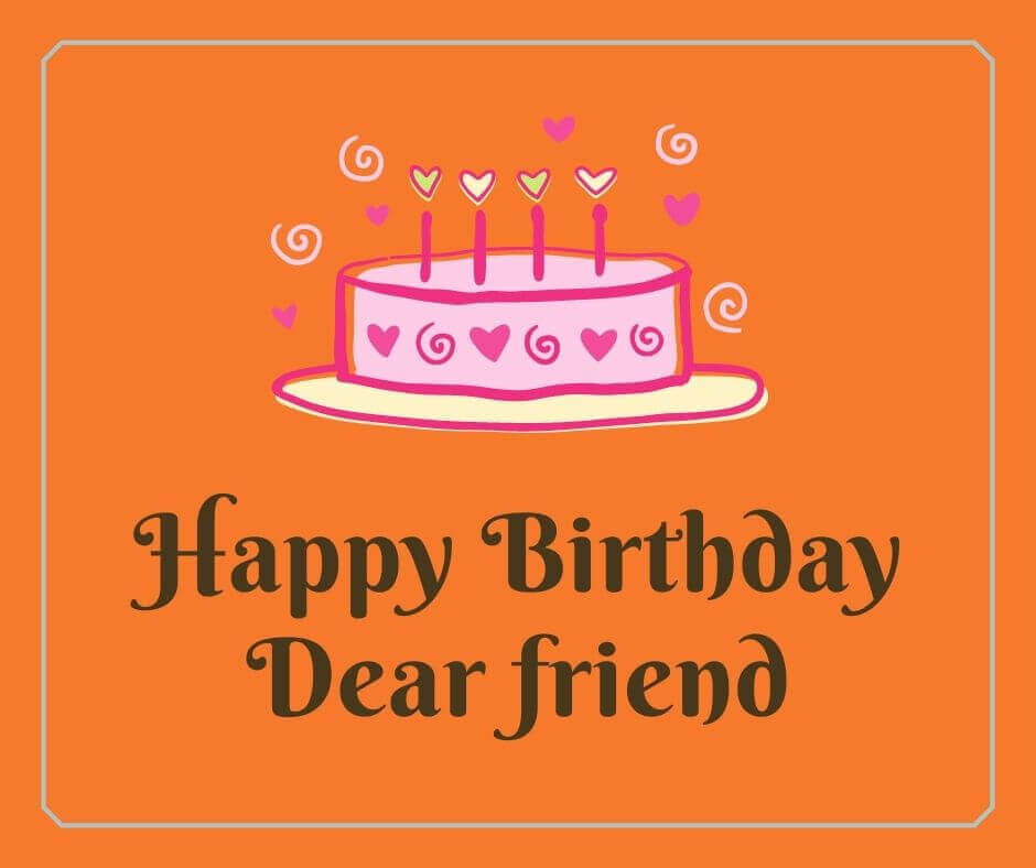 Happy Birthday Wishes For A Friend Image